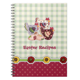 Easter Recipes Hen Country Design Gift Notebook