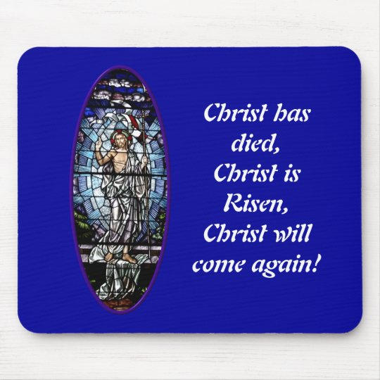 Easter: Resurrection of Christ stained glass Mouse Mat