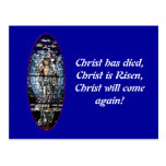 Easter: Resurrection of Christ stained glass Post Cards