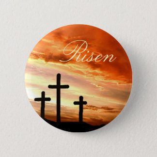 Easter risen 6 cm round badge