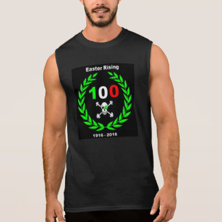 Easter Rising Centenary Shamrock Jolly Roger Sleeveless T-shirts