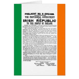 Easter Rising Proclamation of the Irish Republic Card