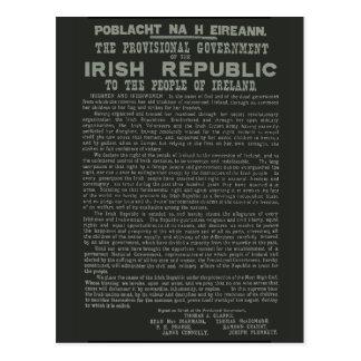 Easter Rising Proclamation of the Irish Republic Postcard