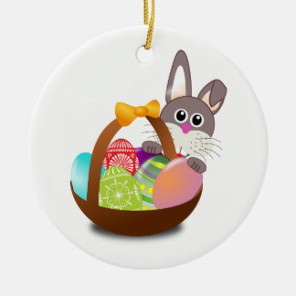 Easter Round Ceramic Decoration
