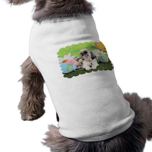 Easter - Shih Tzu - Sophie Dog Tee Shirt