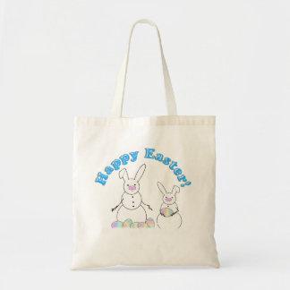 Easter Snowmen Snow Bunnies Tote Bag