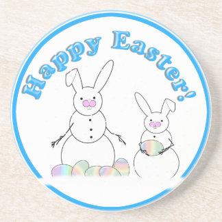 Easter Snowmen Snow Bunnies Drink Coasters