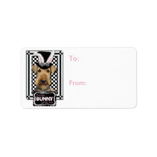 Easter - Some Bunny Loves You - Airedale Address Label