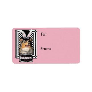 Easter - Some Bunny Loves You  Australian Shepherd Address Label