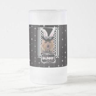Easter - Some Bunny Loves You - Australian Terrier Frosted Glass Mug