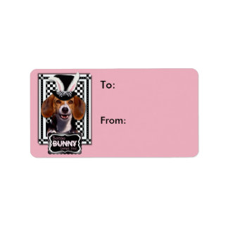 Easter - Some Bunny Loves You - Beagle Address Label