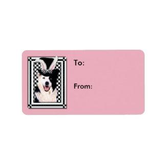 Easter - Some Bunny Loves You - Border Collie Address Label