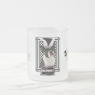 Easter - Some Bunny Loves You - Boston Terrier Frosted Glass Mug