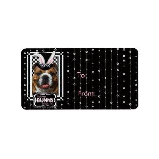 Easter - Some Bunny Loves You - Bulldog Address Label