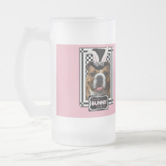 Easter - Some Bunny Loves You - Bulldog Frosted Glass Mug