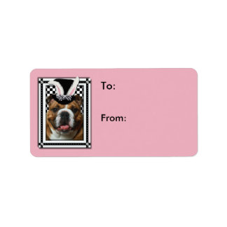Easter - Some Bunny Loves You - Bulldog Address Label