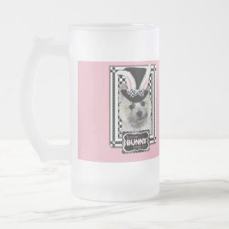 Easter - Some Bunny Loves You - Cairn Terrier Frosted Glass Mug