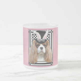 Easter - Some Bunny Loves You - Cavalier Blenheim Frosted Glass Mug