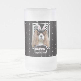 Easter - Some Bunny Loves You - Cavalier Blenheim Frosted Glass Mug