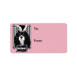 Easter - Some Bunny Loves You - Cavalier TriColor Address Label