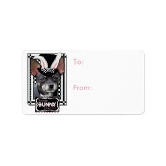 Easter - Some Bunny Loves You - Chihuahua Address Label