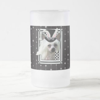 Easter - Some Bunny Loves You - Chinese Crested Frosted Glass Mug