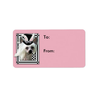 Easter - Some Bunny Loves You - Chinese Crested Address Label