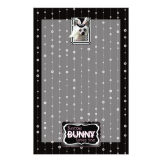 Easter - Some Bunny Loves You - Chinese Crested Customized Stationery