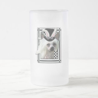 Easter - Some Bunny Loves You - ChineseCrested Frosted Glass Mug
