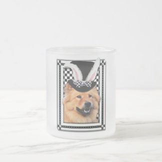 Easter - Some Bunny Loves You - Chow Chow Frosted Glass Mug