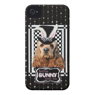 Easter - Some Bunny Loves You - Cocker Spaniel iPhone 4 Case-Mate Case