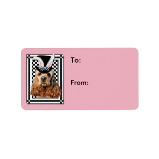 Easter - Some Bunny Loves You - Cocker Spaniel Address Label