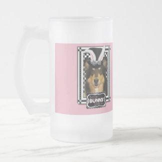 Easter - Some Bunny Loves You - Collie Caroline Frosted Glass Mug