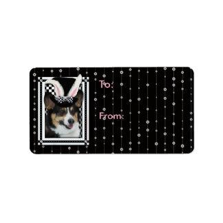 Easter - Some Bunny Loves You - Corgi Address Label