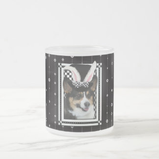 Easter - Some Bunny Loves You - Corgi Frosted Glass Mug