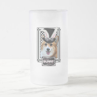 Easter - Some Bunny Loves You - Corgi Owen Frosted Glass Mug