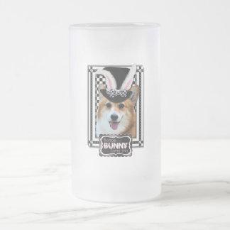 Easter - Some Bunny Loves You - Corgi Owen Frosted Glass Mug