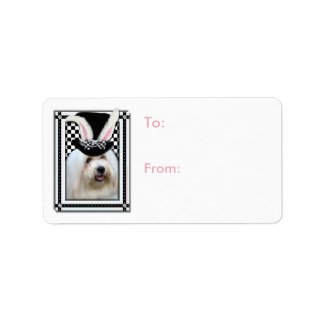 Easter - Some Bunny Loves You - Coton de Tulear Address Label