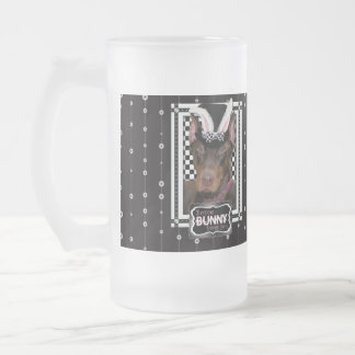 Easter - Some Bunny Loves You - Doberman Frosted Glass Mug