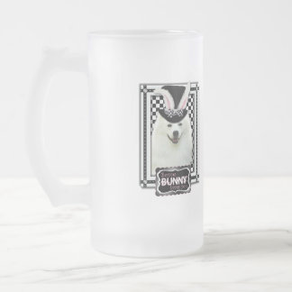 Easter - Some Bunny Loves You - Eskie Frosted Glass Mug