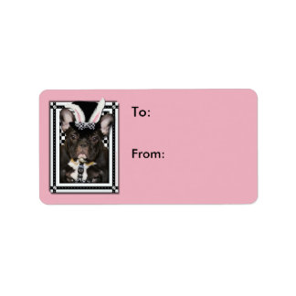Easter - Some Bunny Loves You - French Bulldog Address Label