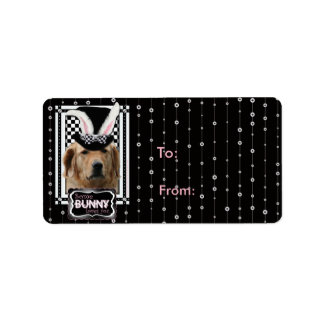 Easter - Some Bunny Loves You - Golden Retriever Address Label