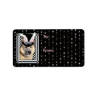 Easter - Some Bunny Loves You - Husky Address Label