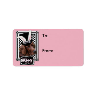 Easter - Some Bunny Loves You - Irish Setter Address Label