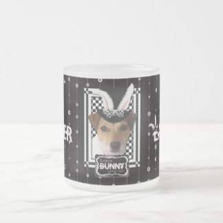 Easter - Some Bunny Loves You - Jack Russell Frosted Glass Mug