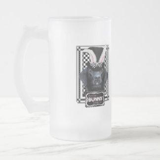 Easter - Some Bunny Loves You - Labrador - Black Frosted Glass Mug