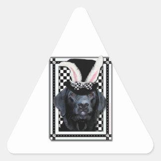 Easter - Some Bunny Loves You - Labrador - Black Triangle Sticker