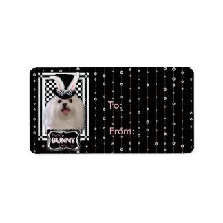 Easter - Some Bunny Loves You - Maltese Address Label