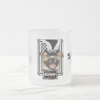 Easter - Some Bunny Loves You - Pitbull Frosted Glass Mug