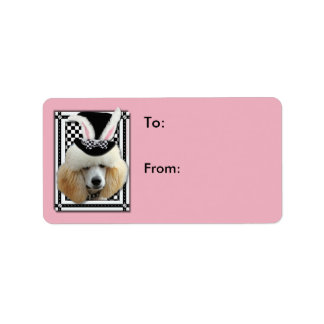 Easter - Some Bunny Loves You - Poodle - Apricot Address Label
